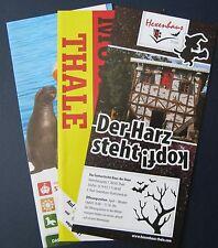 3 Stück Info DDR Museum + Hexenhaus Thale und Erlebnis Tierpark Memleben