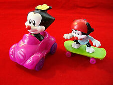 Vintage Carl's Jr. ANIMANIACS Set of 2 Warner Bros CARTOON Launch Toys from 1998