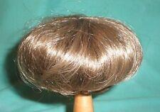 """doll wig brown 11"""" to 11.5"""" Wancke short haircut, also f. boy dolls"""