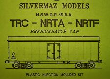 "TRC REFRIGERATOR WAGON KIT OF THE N.S.W.G.R.by ""Silvermaz Model Railways"" HO"