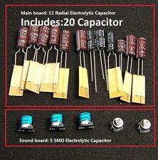 Sega Game Gear 20 Capacitor Repair Kit Fix no/low sound & Dim Screen DIY 20caps