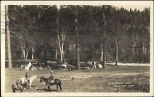 Santa Fe NM 1930+C265 Cancel Fishing Trip Conjilon Camp Real Photo Postcard