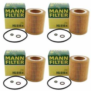 Mann Oil Filter HU816x 4 Pack fits BMW 1 Series E82 135i 125i