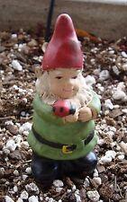 Male Gnome Ladybug Pot Stake New Vintage Style Fairy Garden