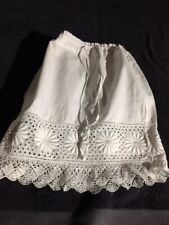 ANTIQUE cotton skirt  for FRENCH doll Jumeau Steiner Bru antique lace 8-9