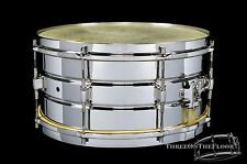 1920s Leedy Elite Model 7x14 Snare Drum : Nickel over Brass : Vintage