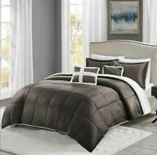 FULL/QUEEN True North Mink Sherpa Ultra Soft & Warm 5-pc Comforter Set - Brown