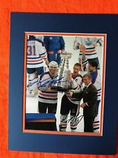 Wayne Gretzky / Mark Messier dual signed color photo! Oilers! Stanley Cup!!  COA