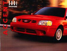 2001 Hyundai Accent 18-page Original Car Sales Brochure Catalog