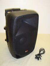"QFX PBX-1202BT 12"" PORTABLE BATTERY POWERED PA SPEAKER W USB/SD/FM/Bluetooth"
