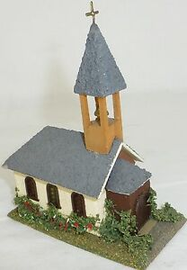 Church Small Villiage Wooden House Finshed Model Vau-Pe 1064 Or Faller H0 1:87