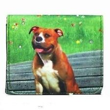 Pit Bull Terrier Dog Bejeweled Fashion Mini Wallet