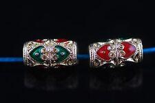 10Pcs 13mm Enamel Loose Bead Rondelle Bead Tube Beads Spacer Jewelery Findings