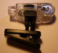 Clip On White LED Light with Swivel - Batteries AG10 Included - SE FL3404B