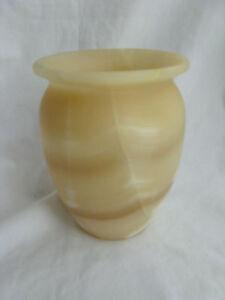 """Egyptian Alabaster Stone Candle Holder / Vase 6"""" #26"""