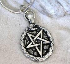 Ouroboros Oroboros SNAKE Pentagram Pewter KEYCHAIN Ring