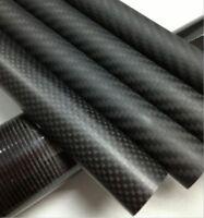 13mm ID x 15mm OD x 500mm Roll Wrapped Carbon Fiber Tube 3K Matt/Glossy 15*13
