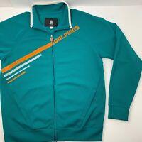 PRO LINE VINTAGE NFL Miami Dolphins Men's Large Full Zip Sweater Jacket