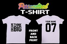 Personalised T Shirt (Front and Back Printing)