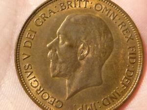 1936 George V Penny 1d NICE GRADE Lustre & Toned #J4