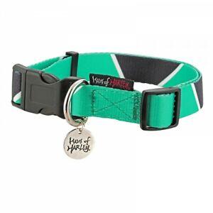 Haus of Harley Metron geometric designer dog collar - Lake green/black - 3 sizes