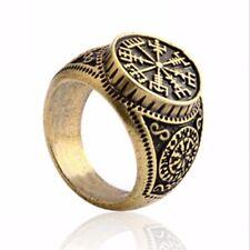 Popular Viking Compass Valknut runic Odin Symbol Norse Nordic Pirate Finger Ring