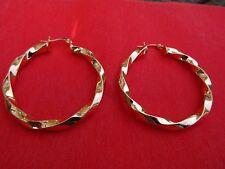 Medio Elegante Oro Contorto Cerchio Orecchini cerchi creolo