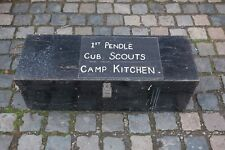 More details for vintage cub scouts camp kitchen box, camping equipment, trunk, container