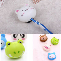 Cartoon Toothbrush Holder Stand Mount Suction Grip Wall Rack Home Bathroom H