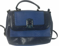 """Guess Purse Blue Snakeskin Faux Finish 12"""" Wide 9"""" High"""