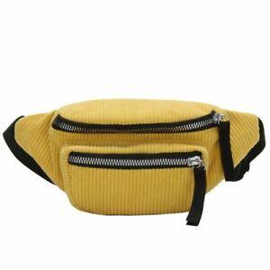 Waist Pack Belt Bag Corduroy Fanny Packs Bum Chest Bags Men Women Travel Pouch