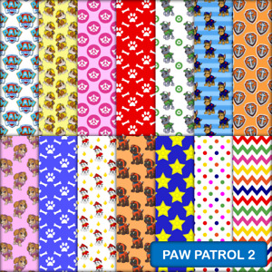 PAW PATROL 2 SCRAPBOOK PAPER - 14 x A4 pages