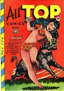 All Top Comics #11 Photocopy Comic Book, Blue Beetle, Phantom Lady