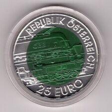Österreich - 25 Euro 2004 Niob hgh - Semmeringbahn - komplett - 50 Tsd.