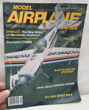 Model Airplane News Magazine May 1985 Build Electra Sportster - Fokker E.V.