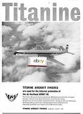 BEA BRITISH EUROPEAN 1960 DE HAVILLAND COMET 4B TITANINE AIRCRAFT FINISHES AD