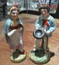Antique Staffordshire Pair - Yeoman Farmer and Wife - Excellent condition