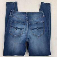 Mudd Womens FLX Stretch High Rise Jean Leggings Blue Distressed Stretch Junior 3