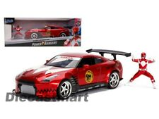 1 24 Red Ranger W/2009 Nissan Gt-r Hollywood Rides From Mr Toys