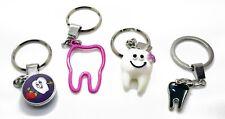 Set of 4 Dental Keyring Key-chain Dental Doctor Student Gift Kids Adults Premium