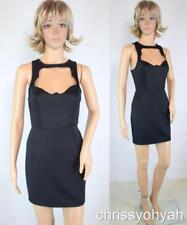 Tobi Mini Black Sweetheart Keyhole CutOut Chest Bandage Body Con Party LBD Dress