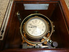 Hamilton US NAVY Marine Chronometer model 22 / 21 Jewel Dated 1942 Runs well.