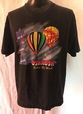 "Vintage 1997 EAA Oshkosh ""Ridin' He Wind"" Size XL Air Show T-shirt"