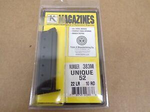 UNIQUE 52, .22LR, 10 RD MAGAZINE by TripleK #383M