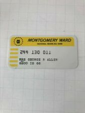 Montgomery Ward Credit Card Expired - Highly Collectible Issue 12/66