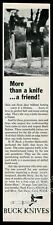 1966 Buck knife 3 hunting knives photo vintage print ad