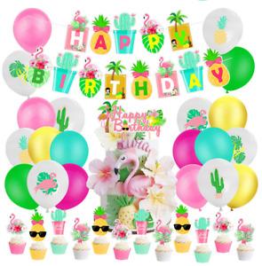 Hawaiian Aloha Birthday Decorations,Luau Party Supplies