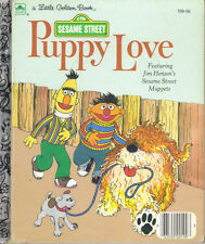 SESAME STREET - PUPPY LOVE - LITTLE GOLDEN BOOK 1983 - JIM HENSON - VERY GOOD