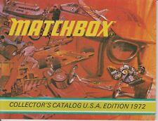 CATALOGUE  CATALOGO MATCHBOX EDITION 1972 USA  COLLECTOR CATALOG ORIGINAL NEUF