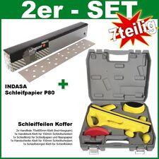 Profi Set 7tlg Handfeile 70x400mm inkl Koffer Indasa Schleifpapier P80 Klett